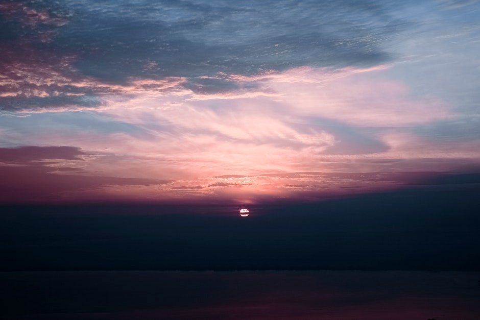 Cloudy Sky during Sunset