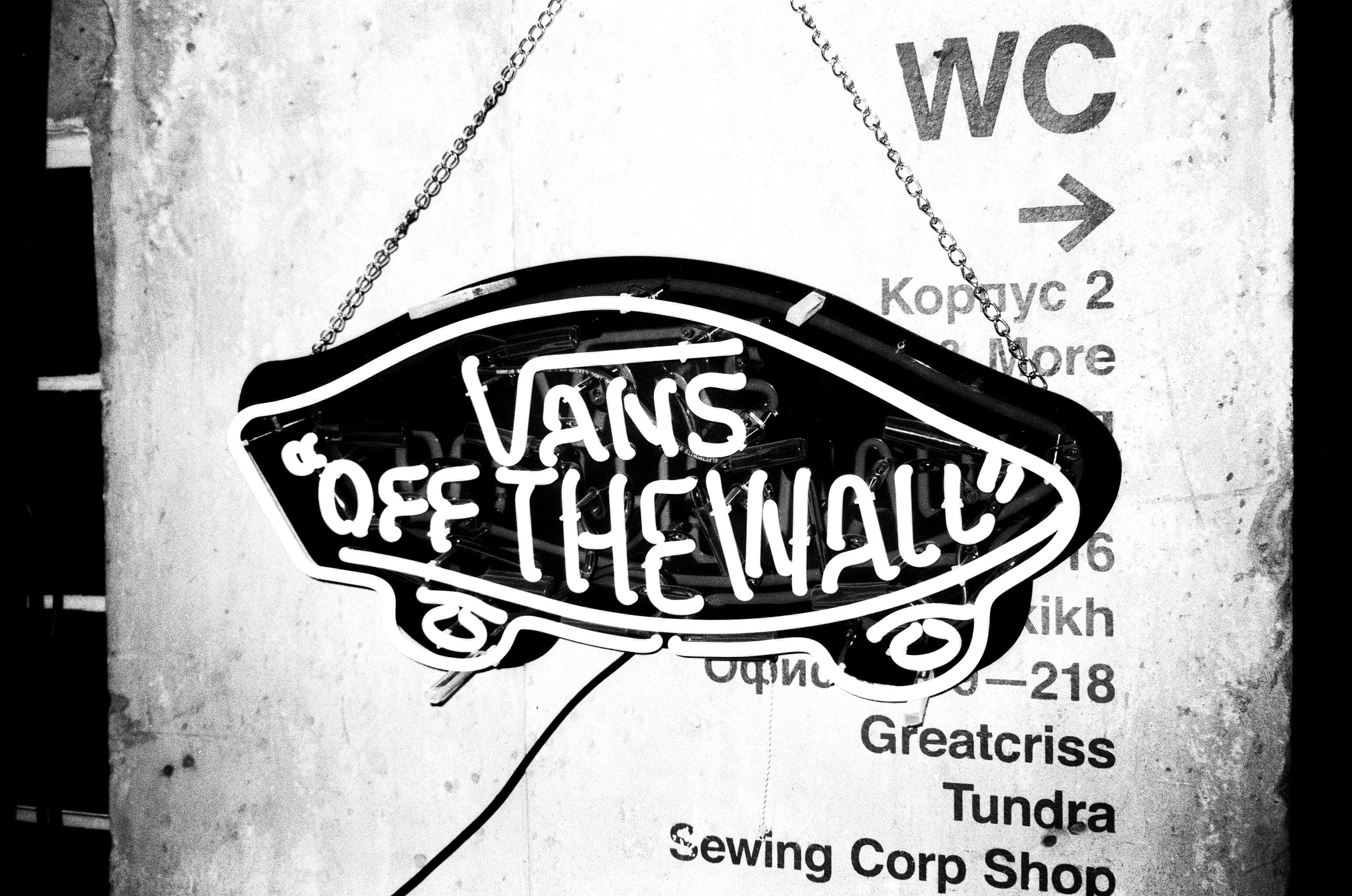 Black and White Vans Off the Wall Hanging Decor