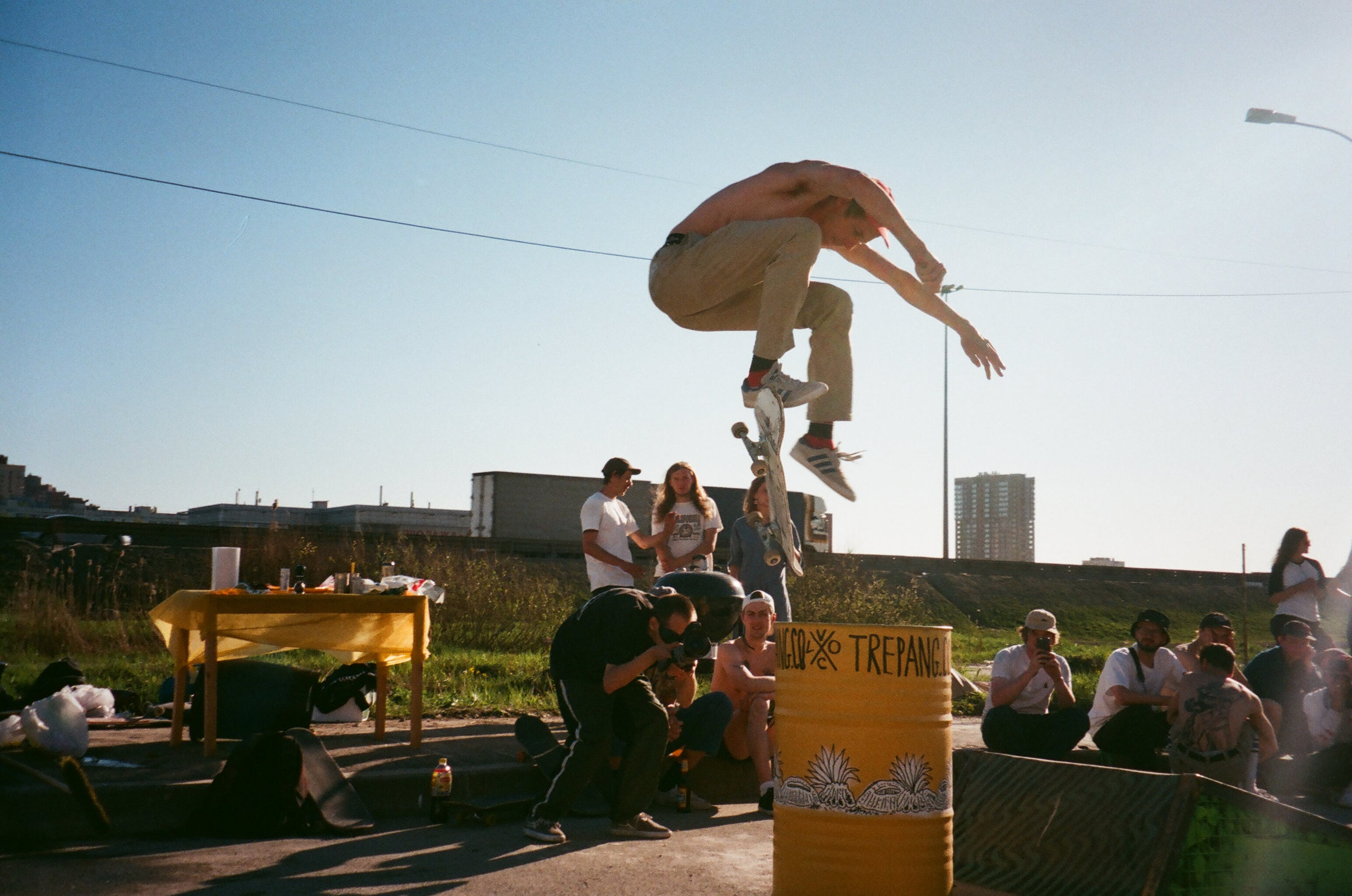 Person Performing Skateboard Trick