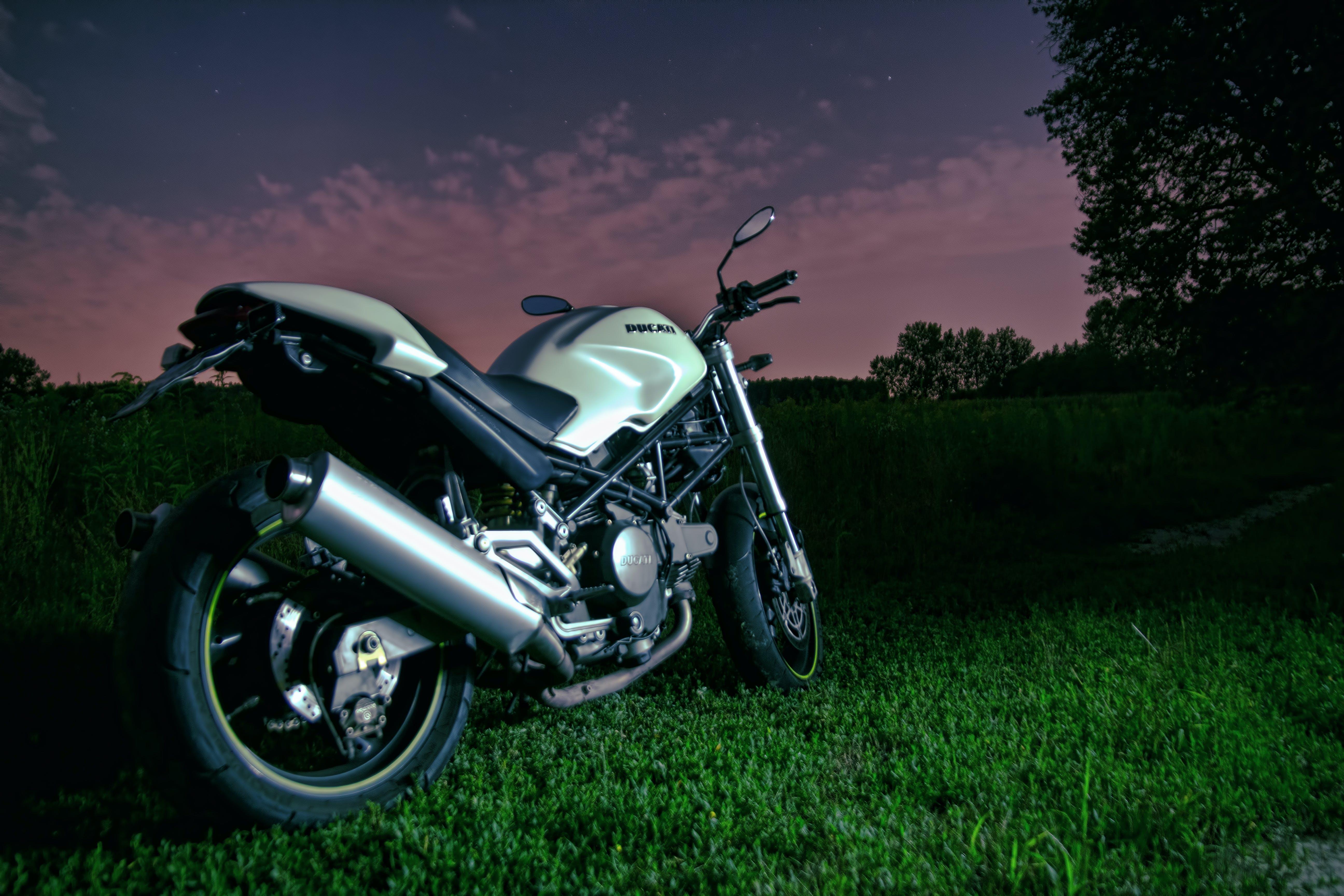 Free stock photo of bike, ducati, evening, monster 600