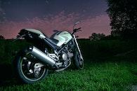 evening, bike, motorbike