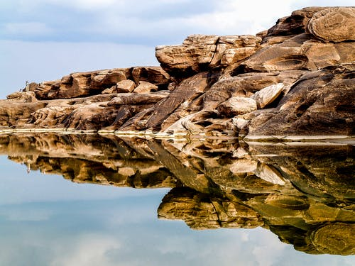 Rock Formation Mirrored by Water