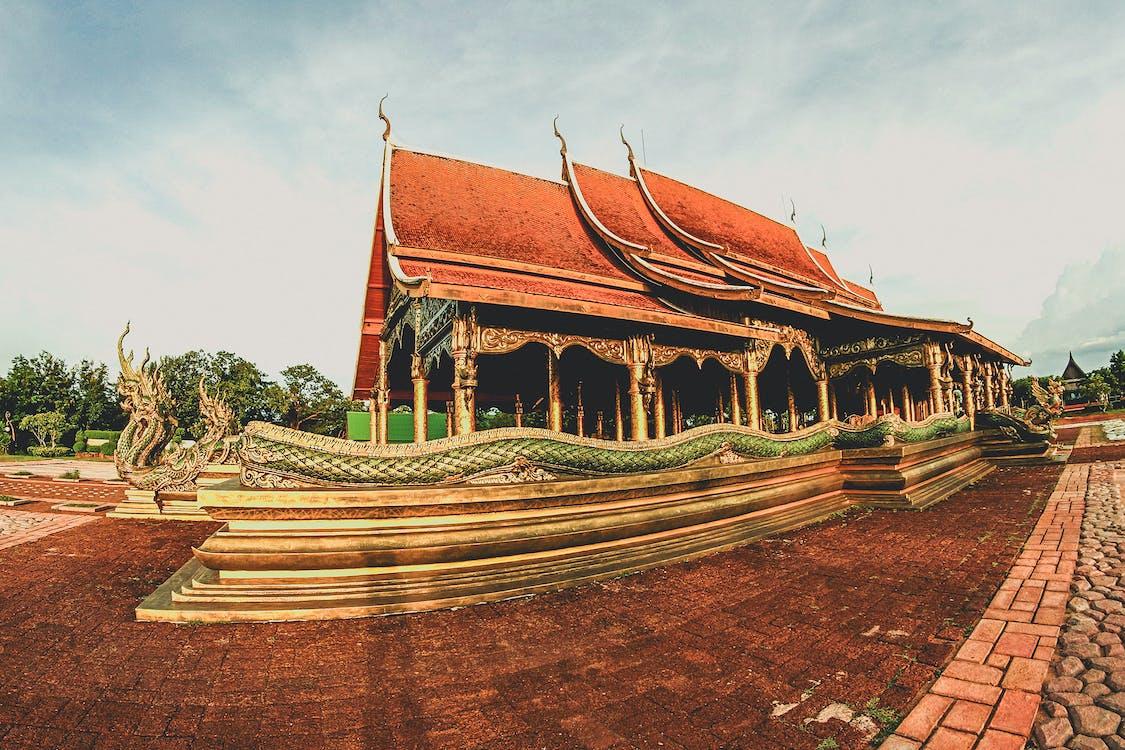 азиатский, архитектура, достопримечательность