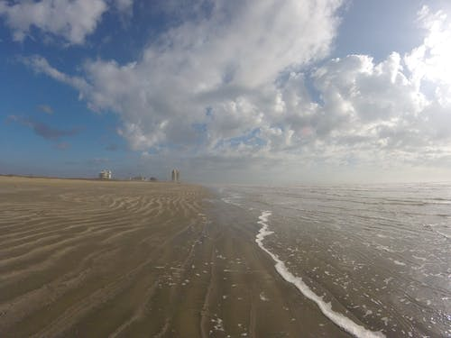Free stock photo of beach, clouds, galveston