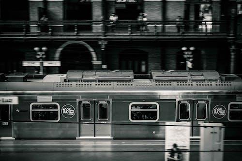 Základová fotografie zdarma na téma černobílá, stanice, trénovat
