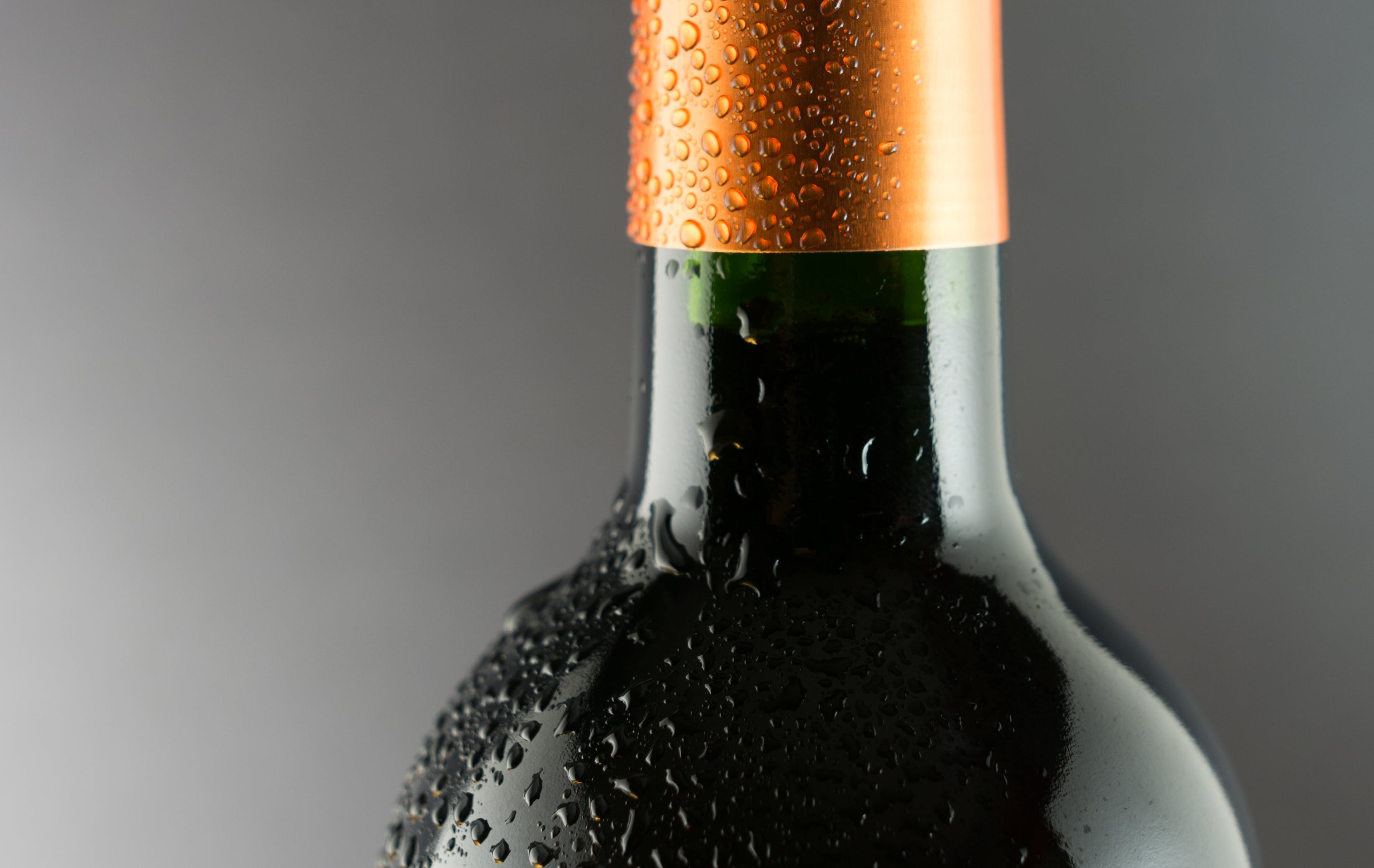 Black Labeled Wine Bottle
