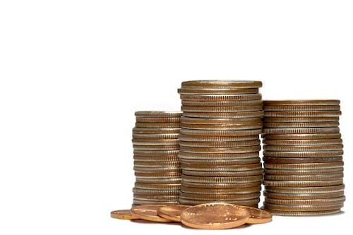 Бесплатное стоковое фото с монеты, сбережения, стопка монет