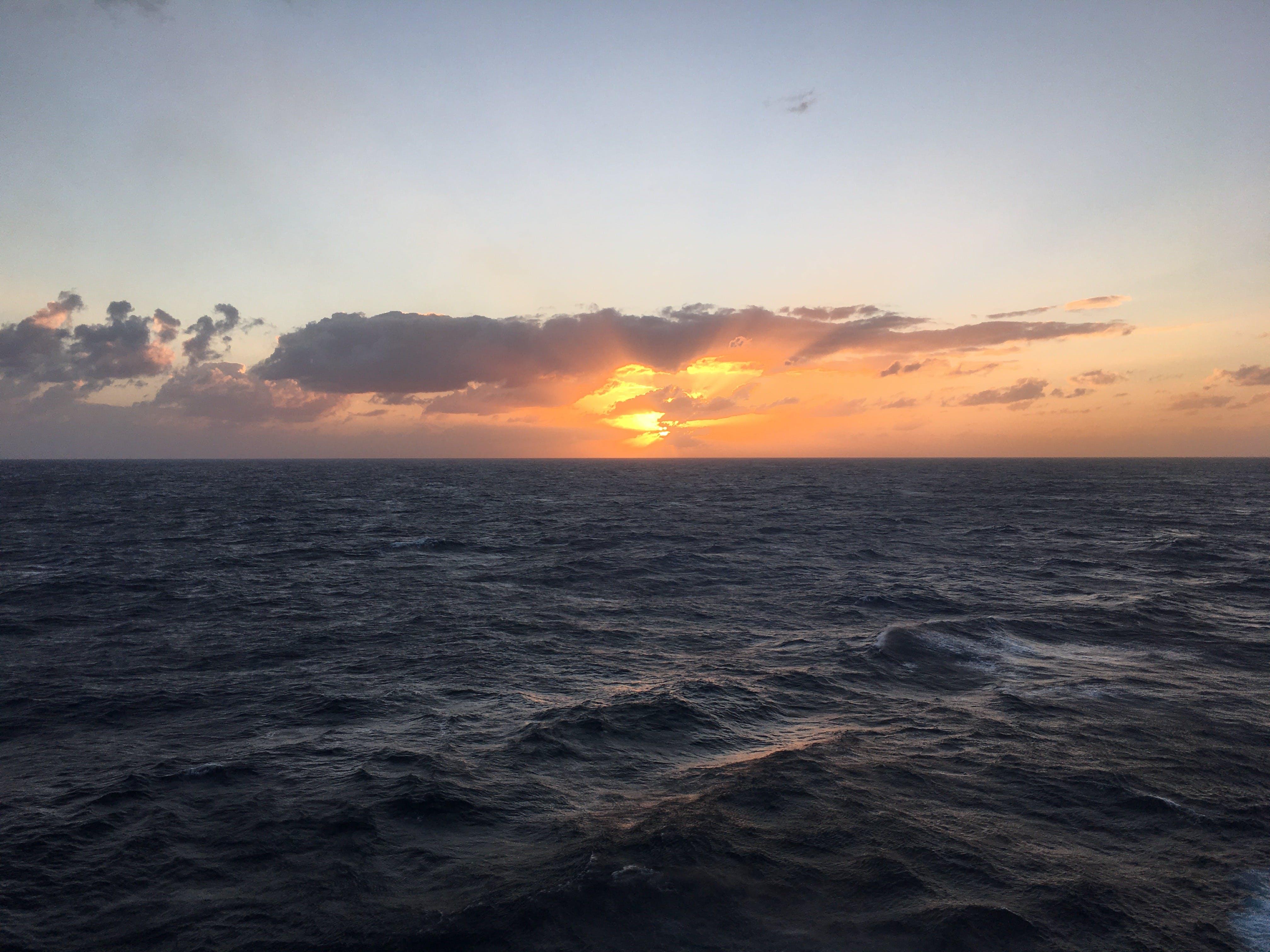 Free stock photo of clouds, ocean, sunrise, deep ocean