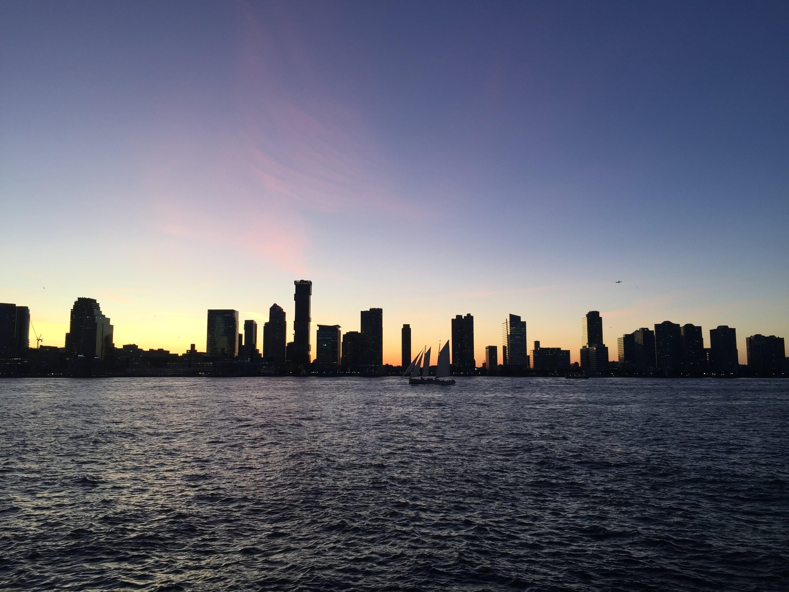 Free stock photo of city sunset, hudson, hudson bay, new york city