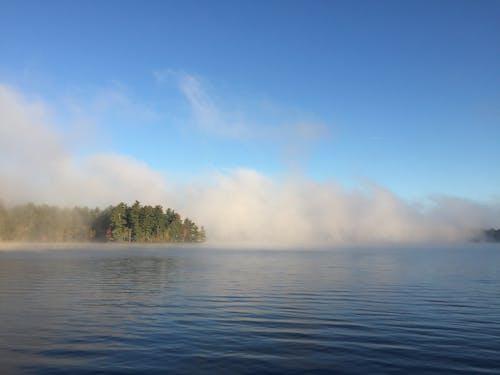 Free stock photo of fog, foggy, foggy lake