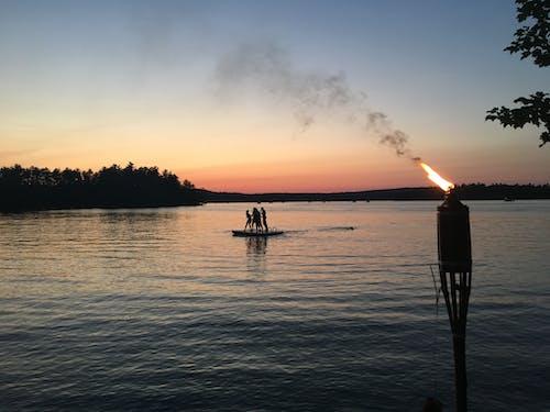Free stock photo of maine, Maine lake, night swim, sunset