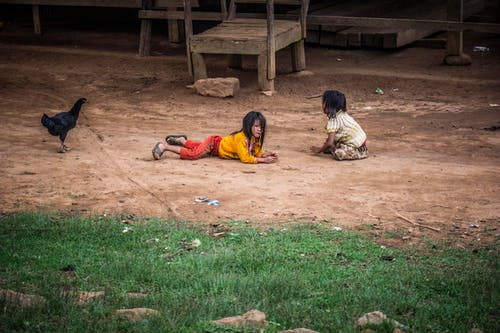 にわとり, アジアの女の子, キッズ, 人の無料の写真素材