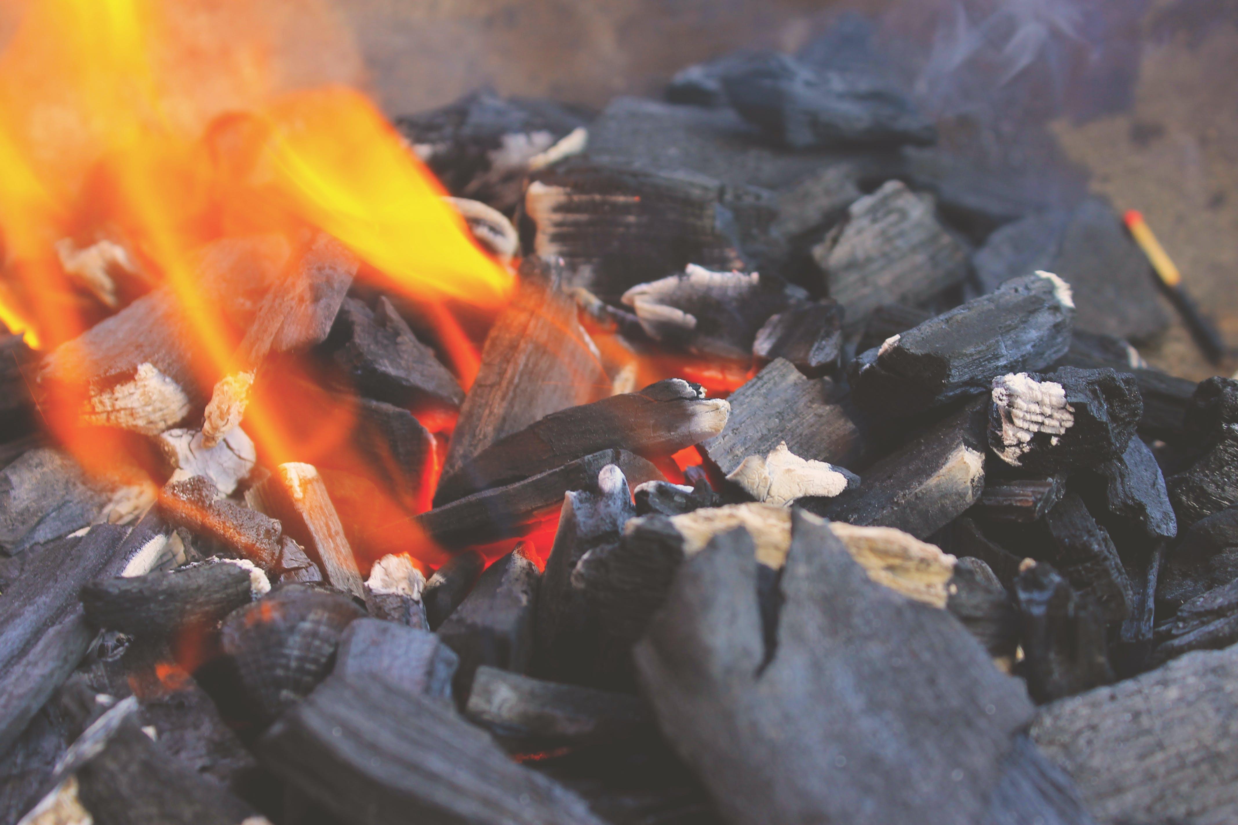 Kostenloses Stock Foto zu feuer, grill, grillen, holzkohle