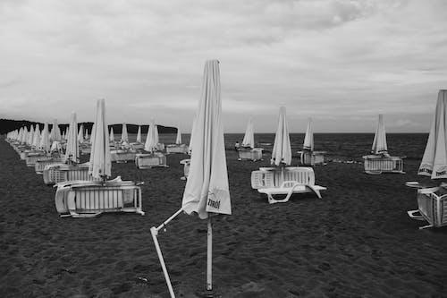 바다, 우산의 무료 스톡 사진