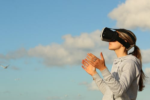 Woman Using Vr Goggles