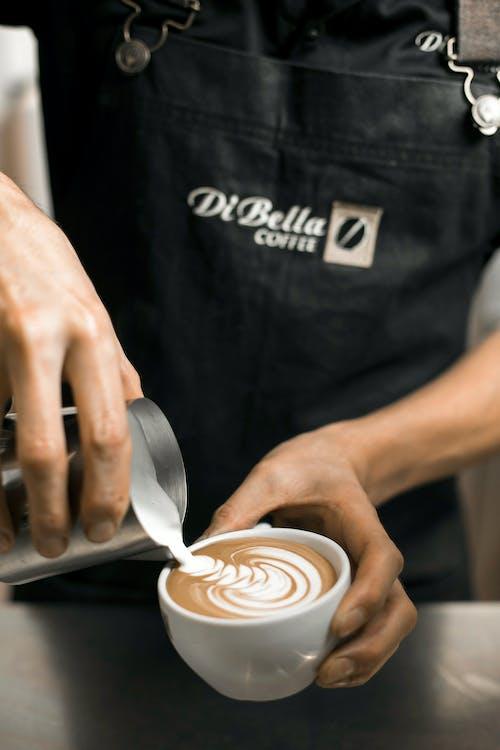 barista, cappuccino, close-up
