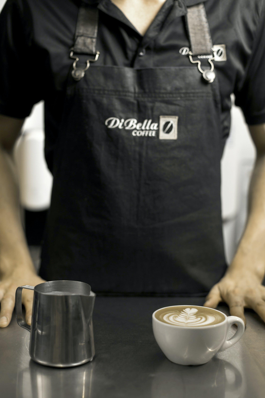 Man Prepared Cup of Cappuccino