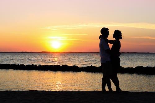 Základová fotografie zdarma na téma láska, západ slunce