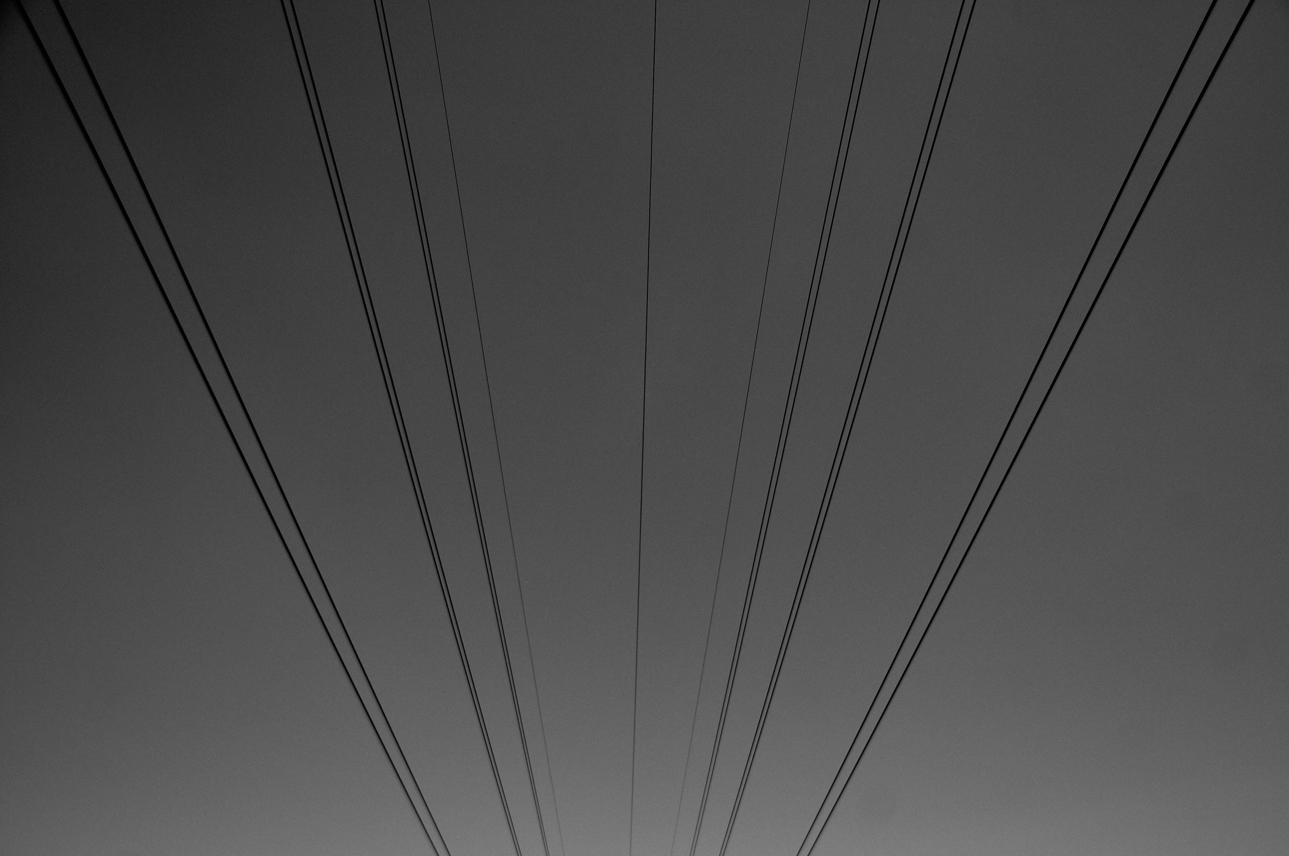 Kostenloses Stock Foto zu dramatischer himmel, kabeldraht