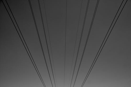 Free stock photo of cable wire, dramatic sky