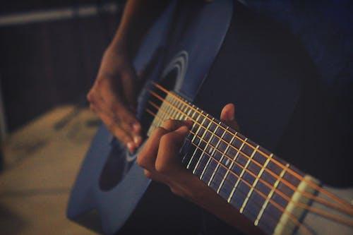 Free stock photo of guitar, hand, music