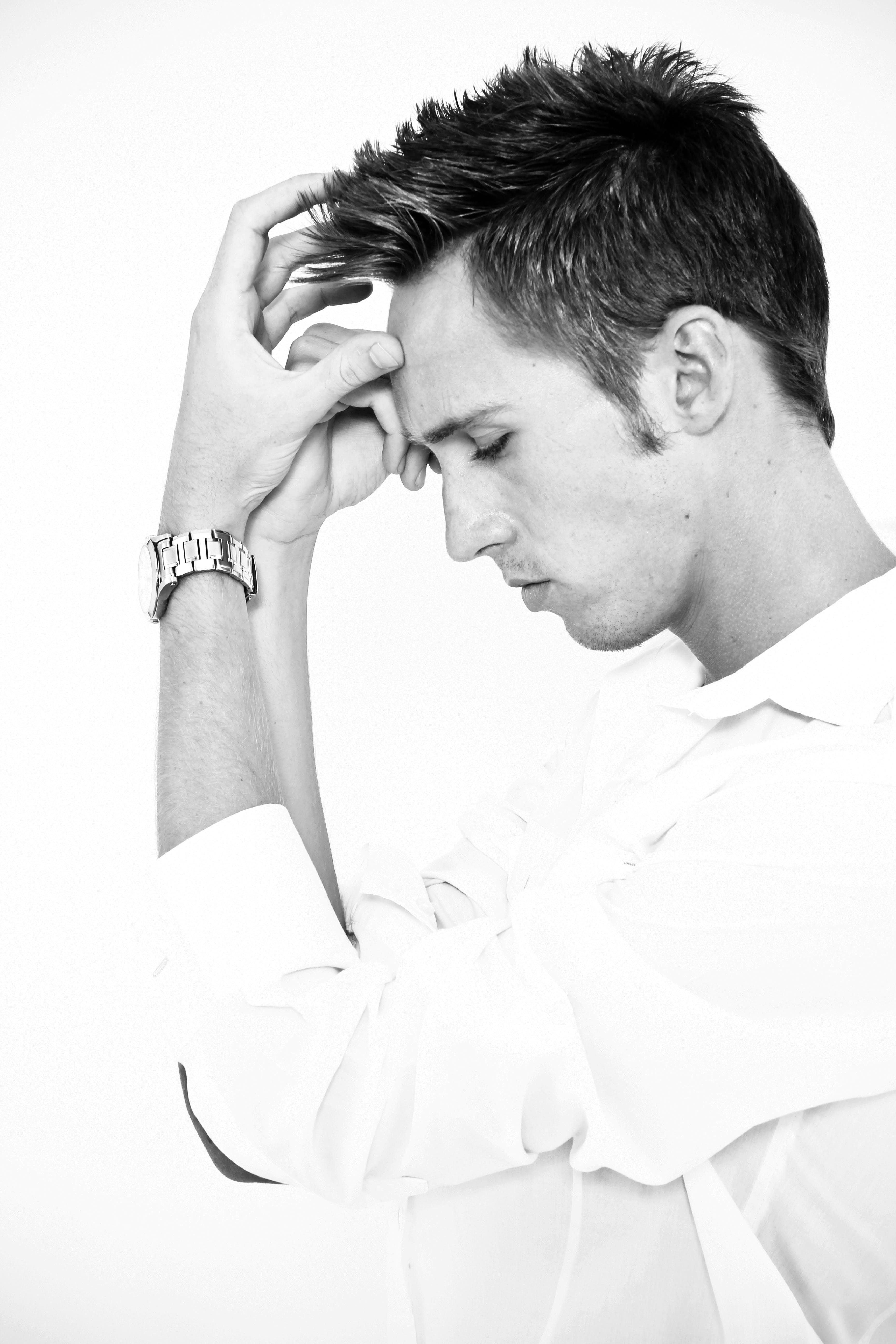 black and white, male, male model