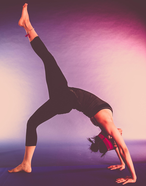 agility, balance, beautiful girl