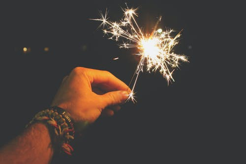 Photo of Person Holding Sparkler