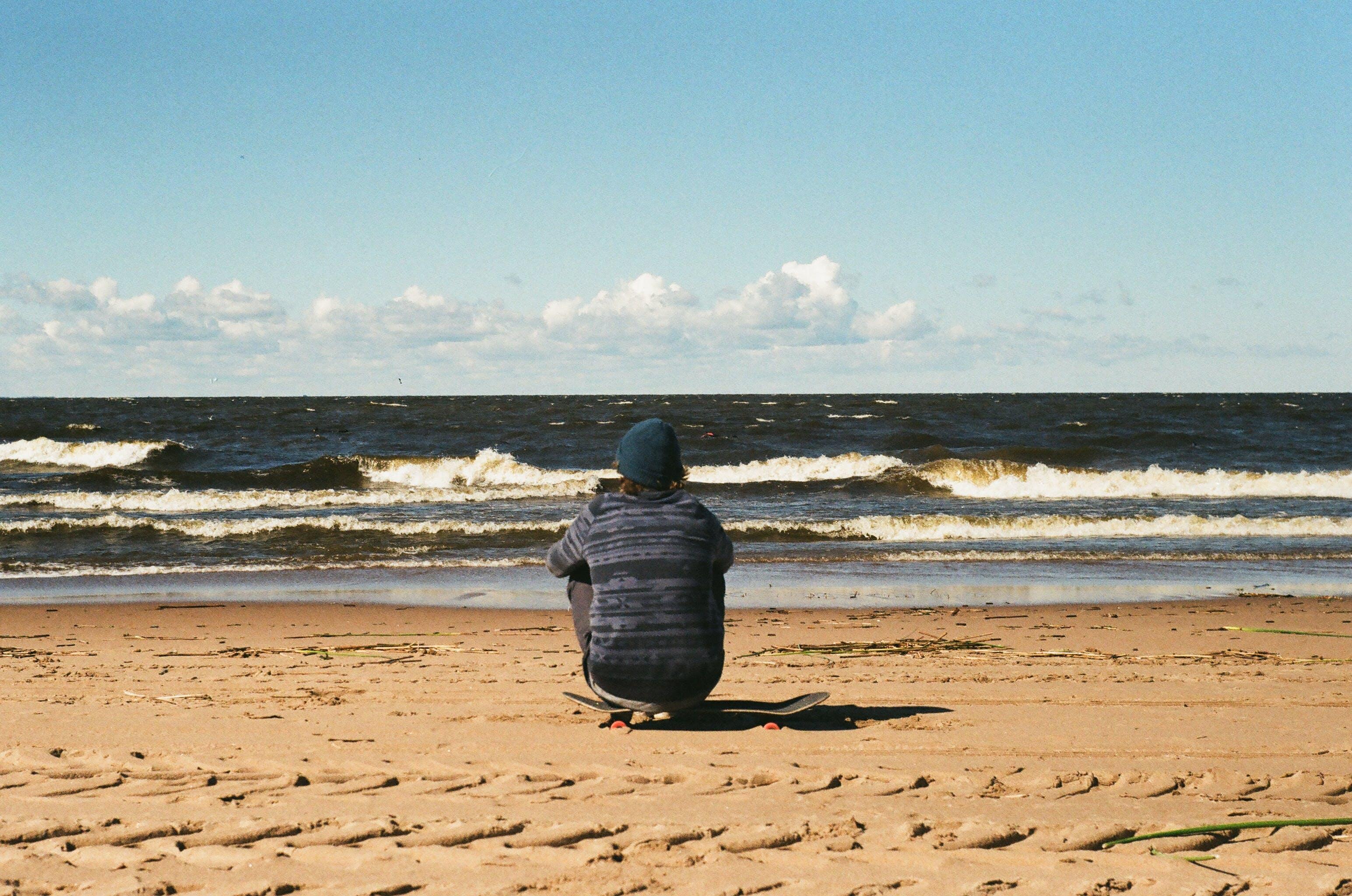 bølger, dagslys, ferie