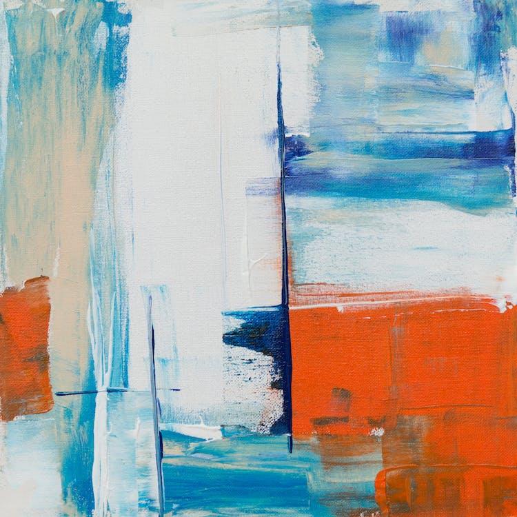 abstraktná maľba, abstraktný expresionizmus, akryl