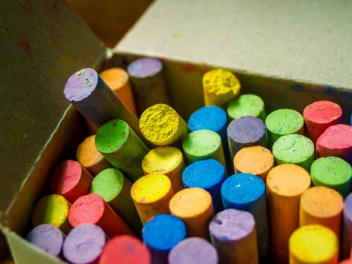 Close-up of Crayons Inside Box
