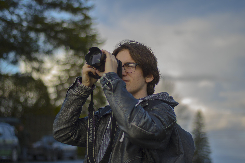fotograf, fritid, jakke