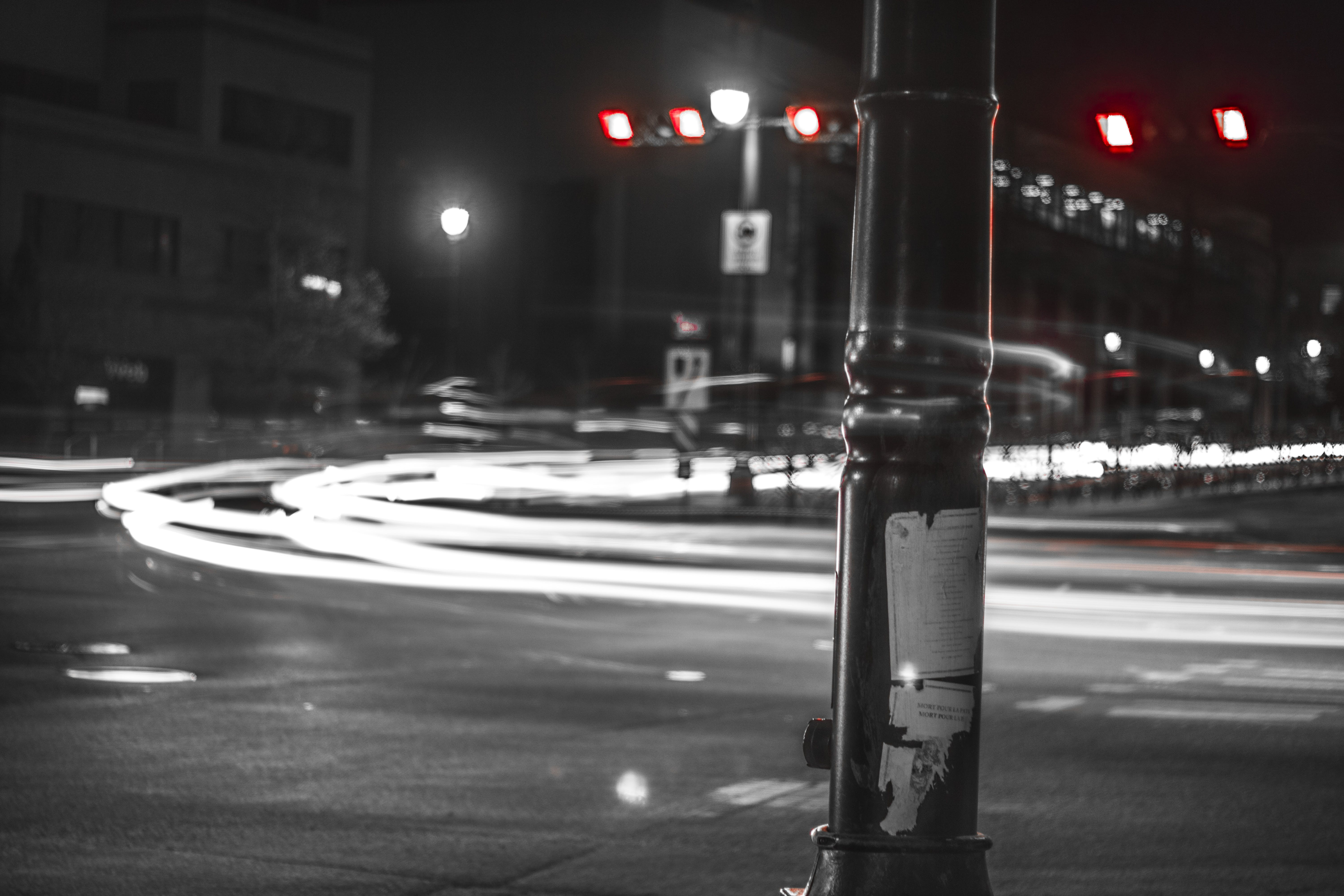 Grayscale Timelapse Photography