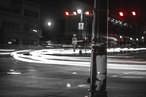 Základová fotografie zdarma na téma akce, auto, černobílý, dlouhá expozice