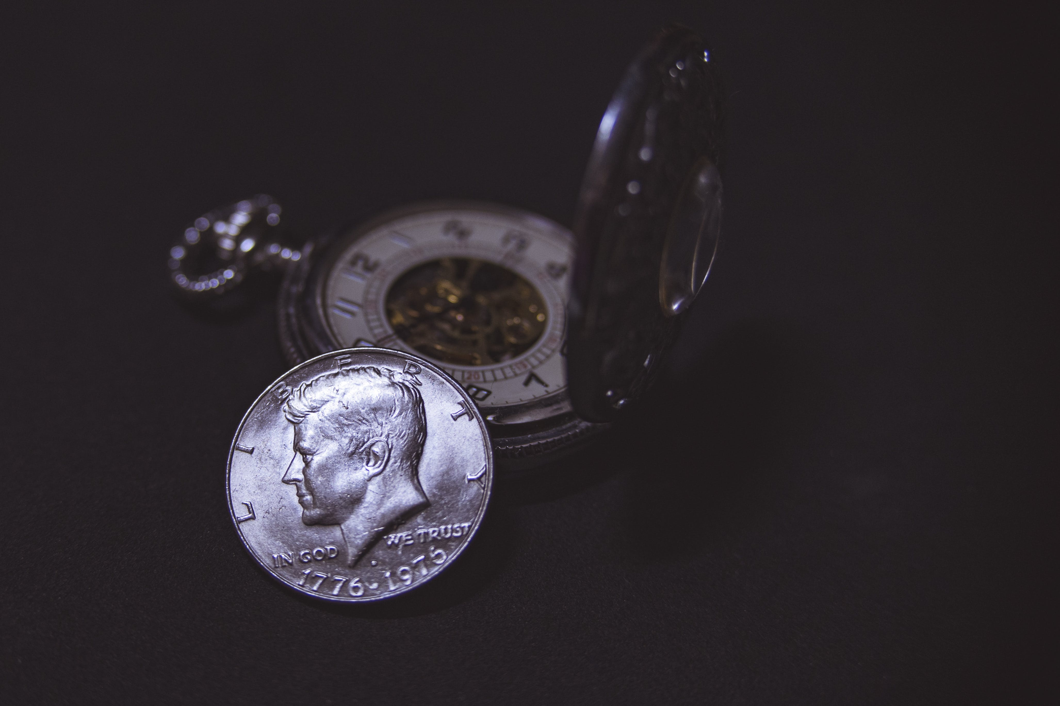 Round Silver-colored Liberty Coin