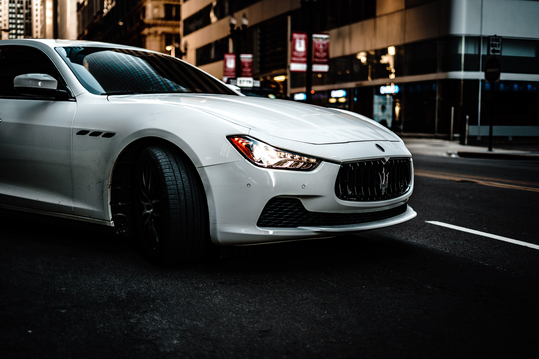 Photography of White Maserati