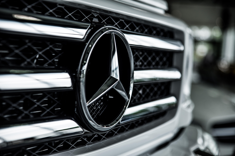 Shallow Focus of Mercedes-benz Emblem