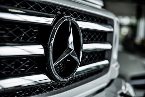 Shallow Focus of Mercedes-benz Emblem
