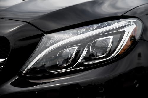 Free stock photo of amg, car, cla, headlight