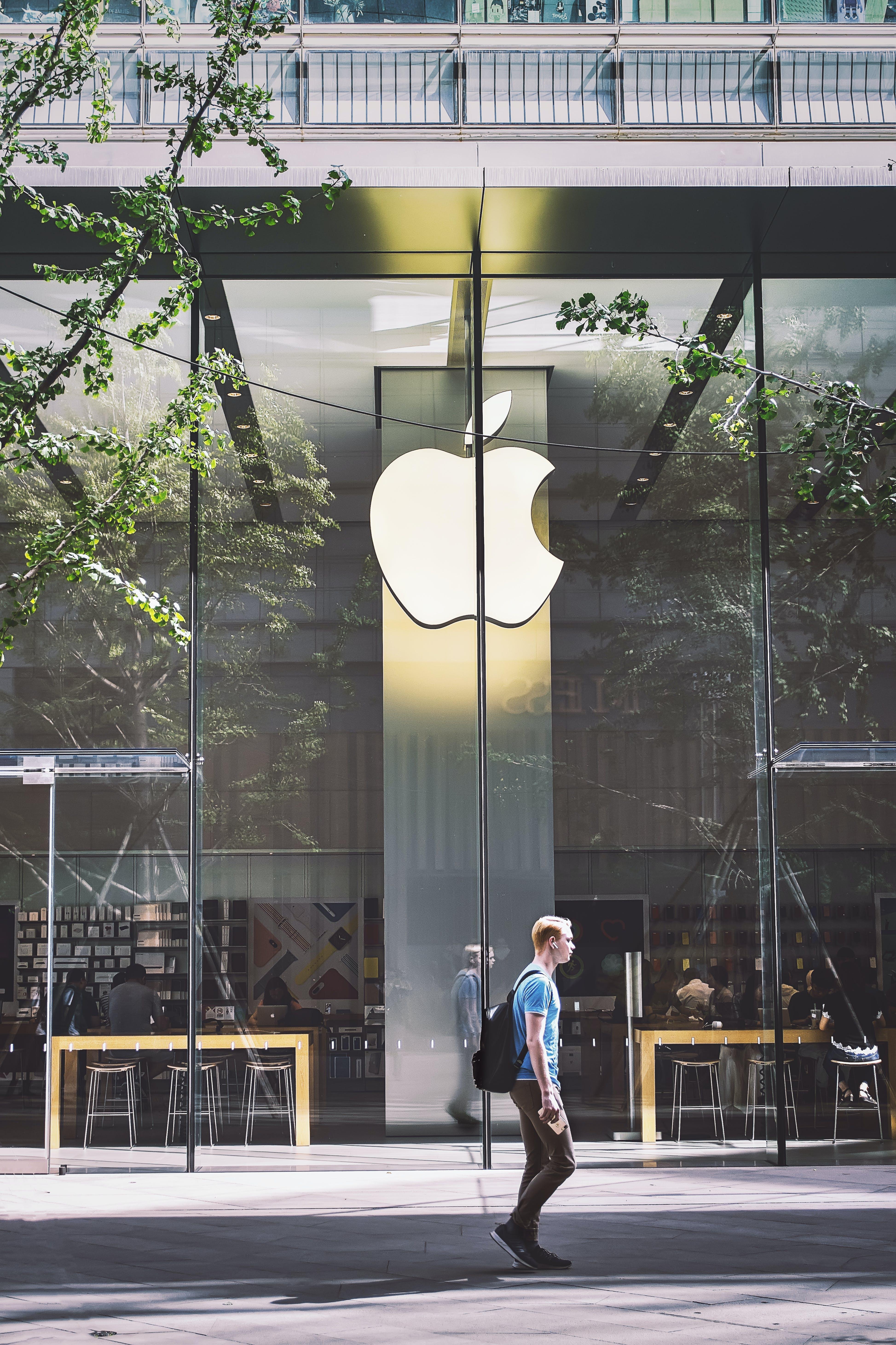 Gratis lagerfoto af Apple, arkitektur, butik, bygning