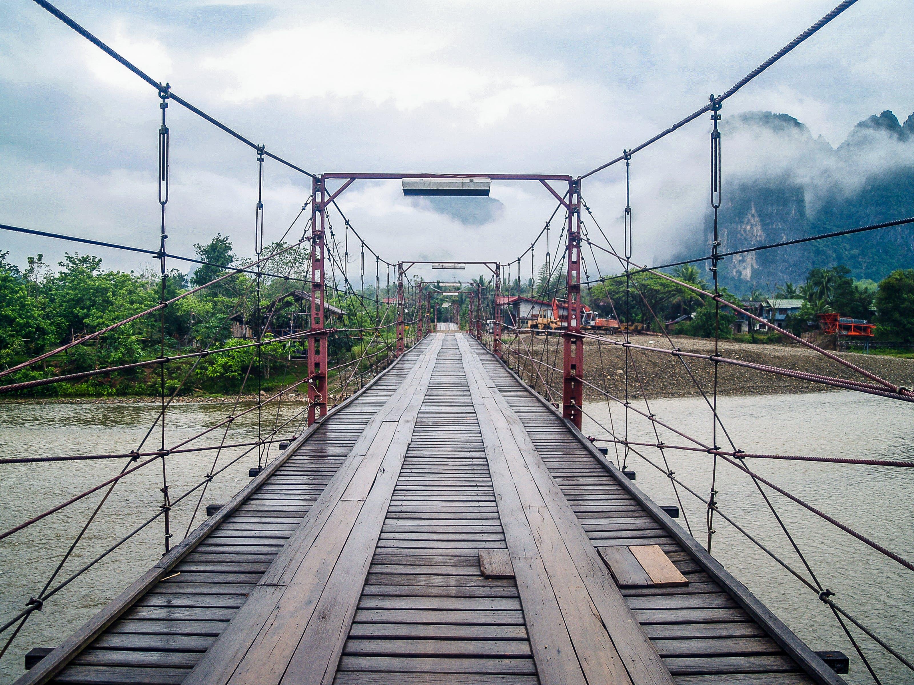 Brown Wooden Bridge