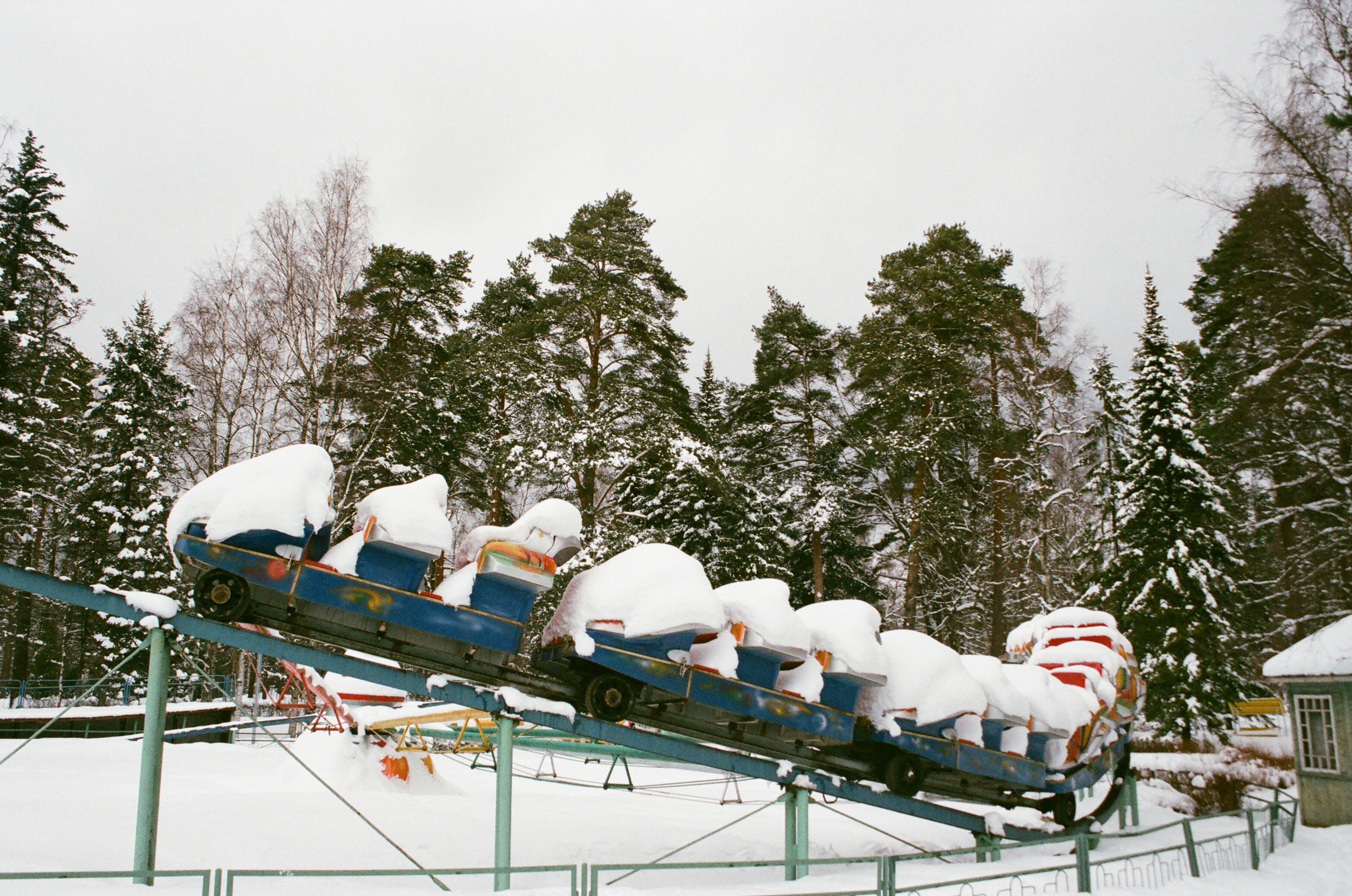 Snow Covered Rolling Coaster