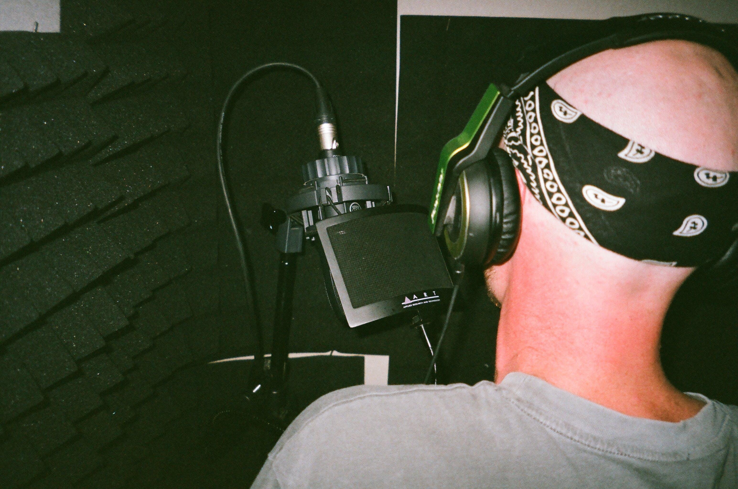 Man Recording Audio