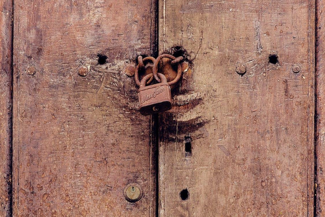 문, 문 손잡이, 잠긴