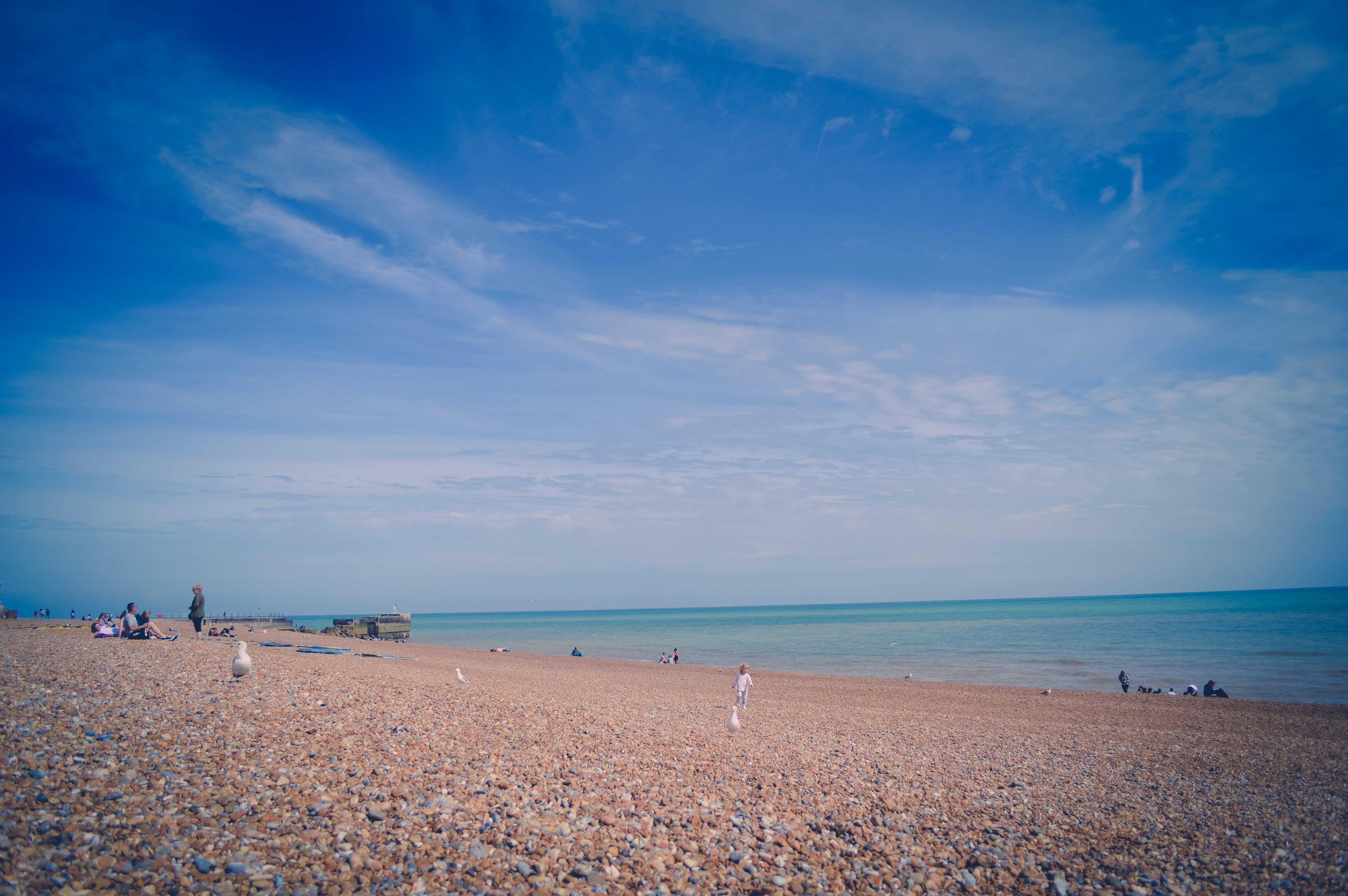 Free stock photo of beach, england, pebble beach, sea