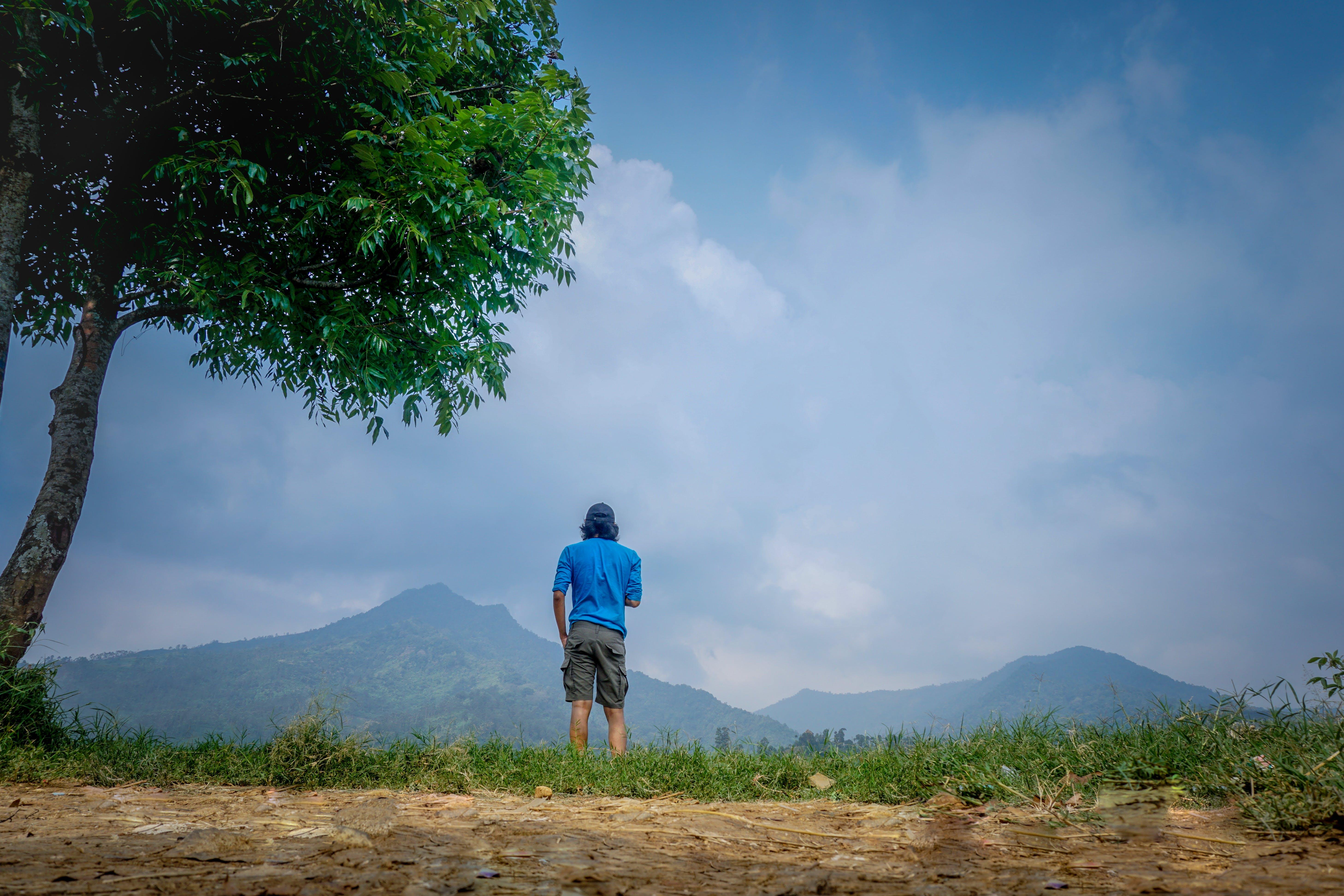 Free stock photo of sky, man, blue, traveling