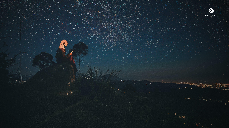 Free stock photo of hijab, moslem, night, night photography