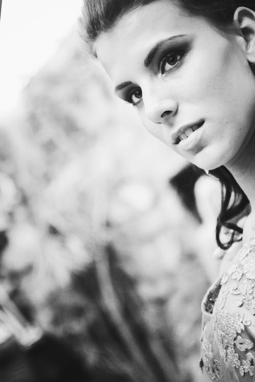 Free stock photo of black and white, girl, lady