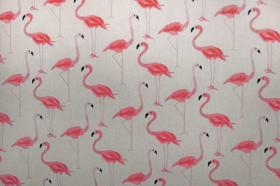 Pink flamingo printed paper