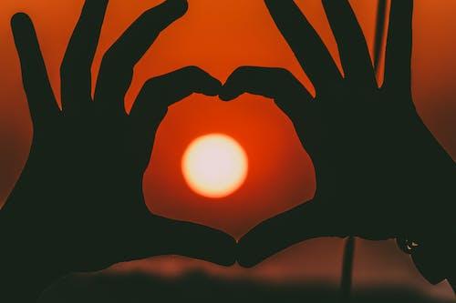 คลังภาพถ่ายฟรี ของ คน, ดวงอาทิตย์, ตะวันลับฟ้า, นิ้วมือ